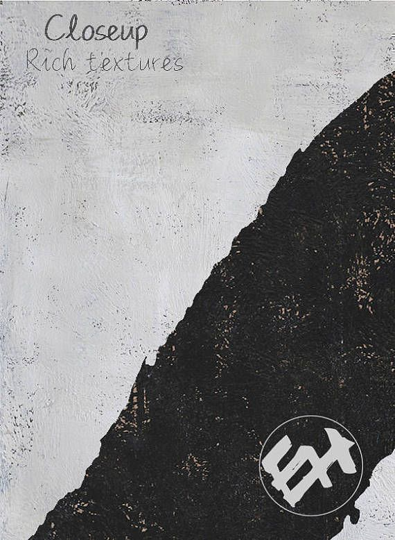 Ethan Hill Art Grande toile Art Wall Art, noir et blanc, peinture