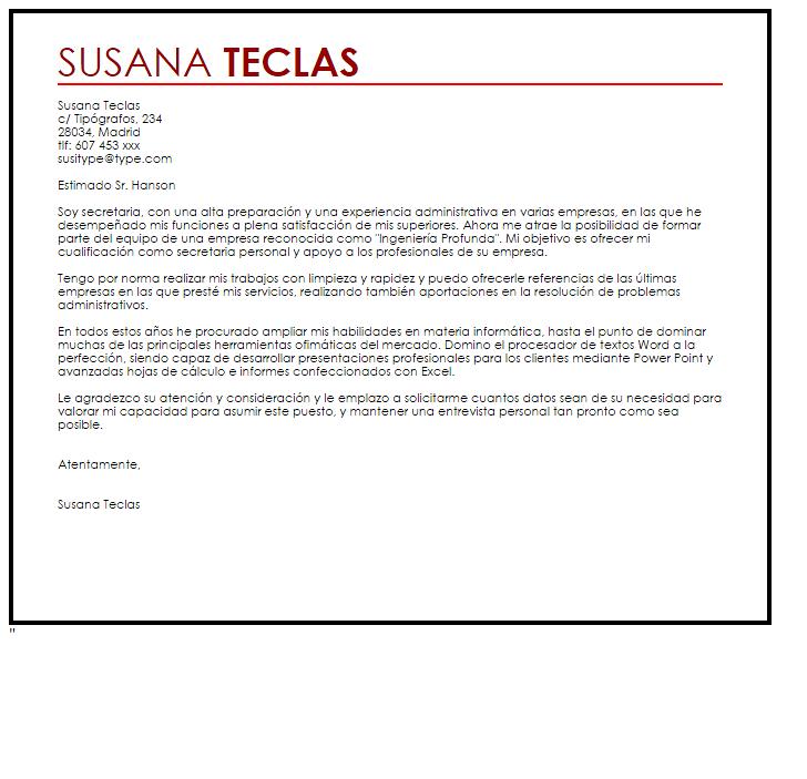 Carta De Presentación Administrativo | carta presentacion ejemplo ...