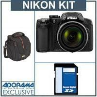 Nikon Coolpix P510 Digital Camera, Built-in GPS, Black - Bundle - with 16GB SD Memory Card, Camera Case by Nikon. $346.95. The Nikon Coolpix P510 Digital Camera (Black) offers a massive telephoto zoom range, starting quite wide at 24mm and telescoping 42x to 1000mm (35mm equivalent focal lengths). This range will enable you to shoot comfortably in tight indoor spaces and capture wide landscapes, while giving you the long reach to capture wildlife, sporting events ...