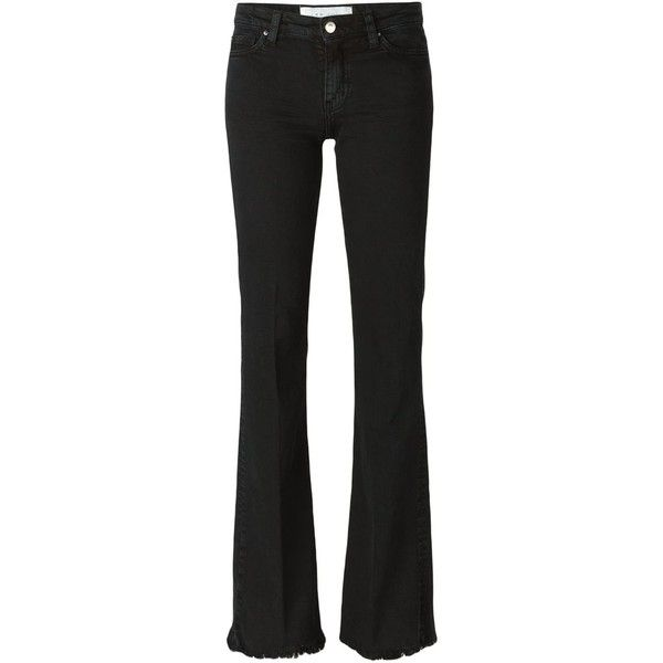 Iro Freddy Bootcut Jeans (1.485 DKK) ❤ liked on Polyvore featuring jeans, black, bootcut jeans, boot cut jeans and boot-cut jeans