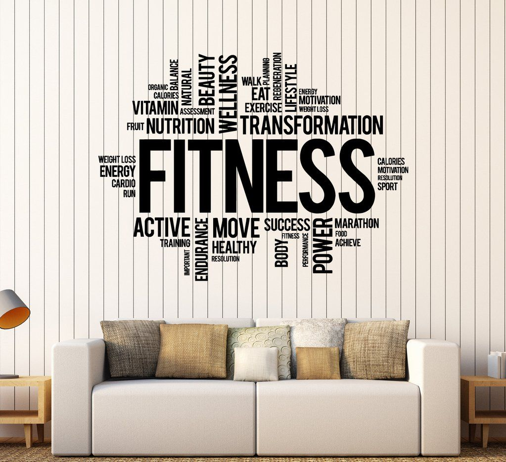 GYM Wall Decals Healthy Life Style Sports Stickers Motivated Fitness Gym Decal