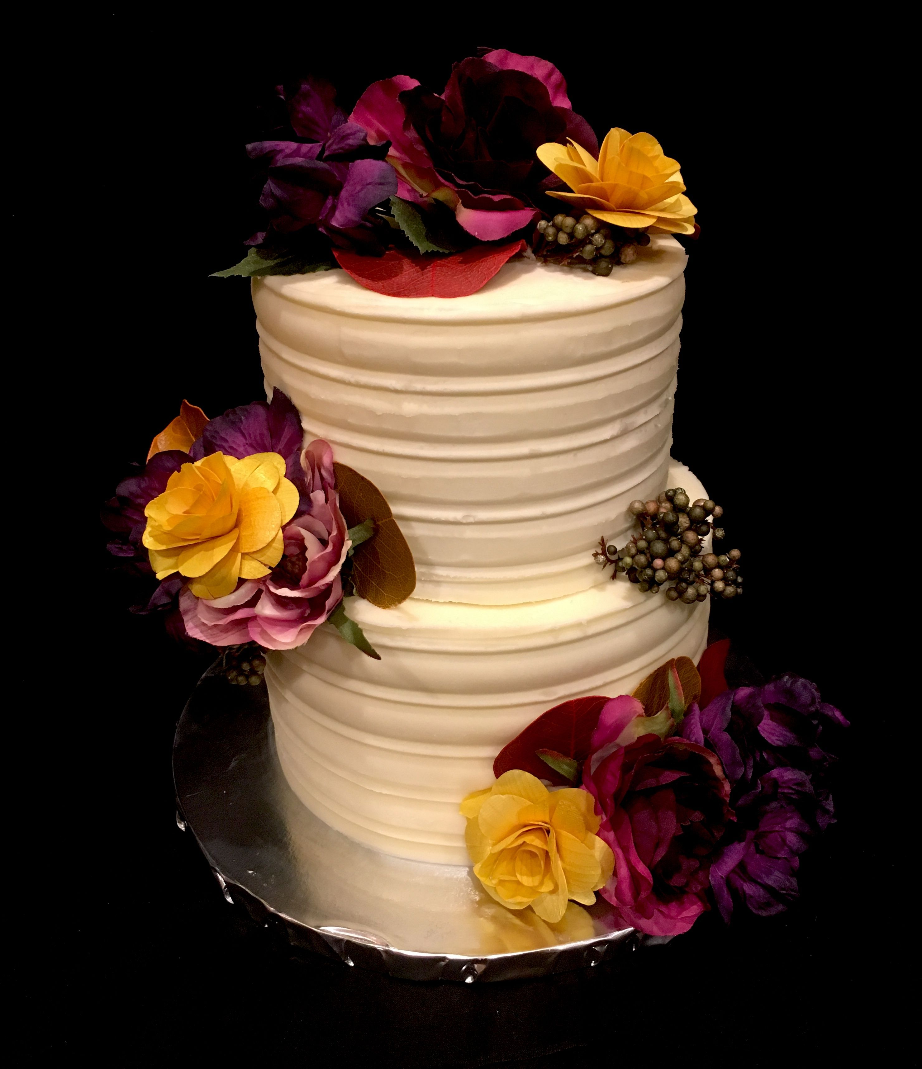 Fall colors cake Fall wedding cake Bridal shower cake ...