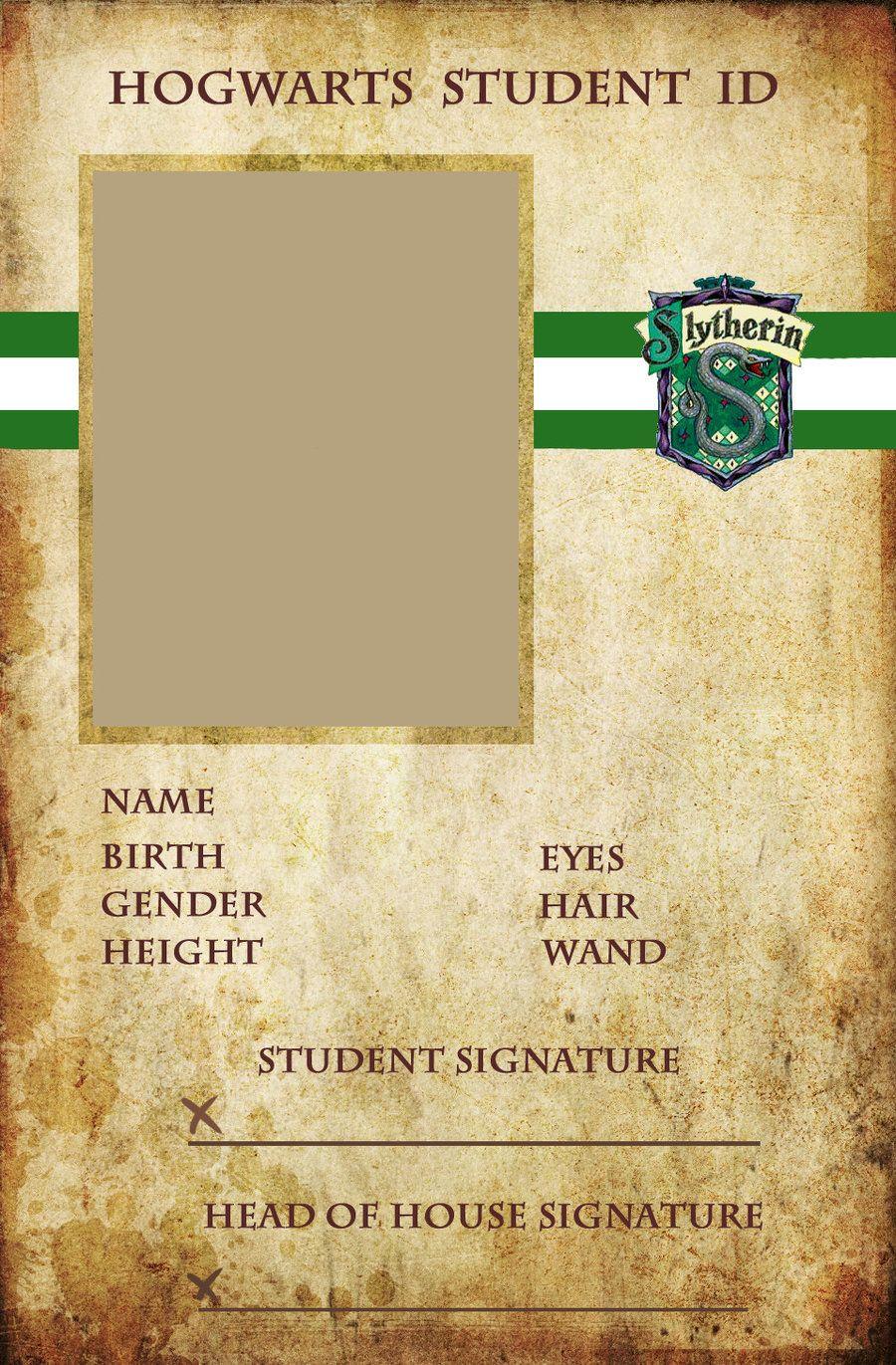 Slytherin Id By Animejunkie106 On Deviantart Buku Harry Potter Buku Penyihir