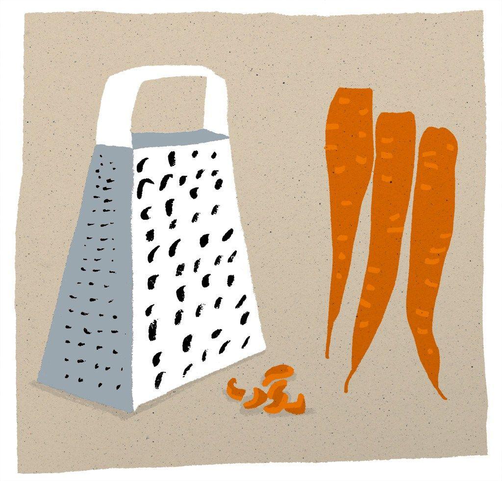 Grater & carrots