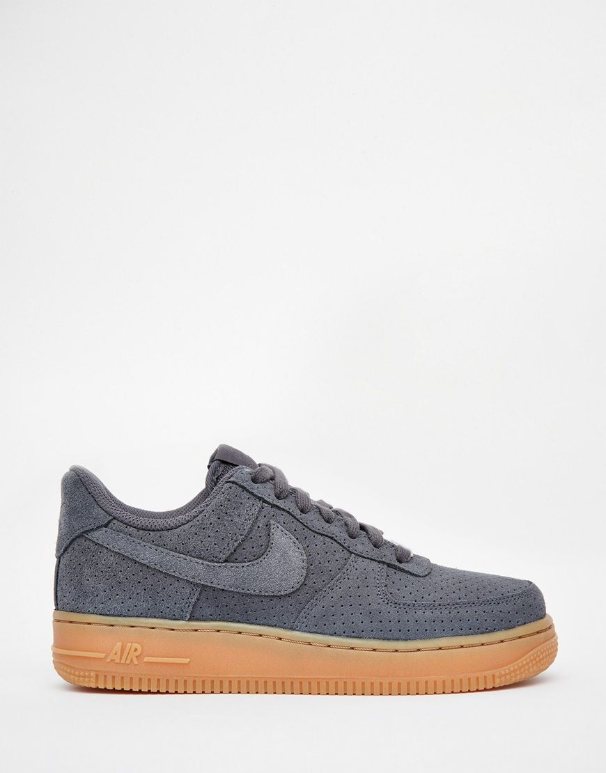 Image 2 - Nike - Air Force 1 07 - Baskets en daim - Gris