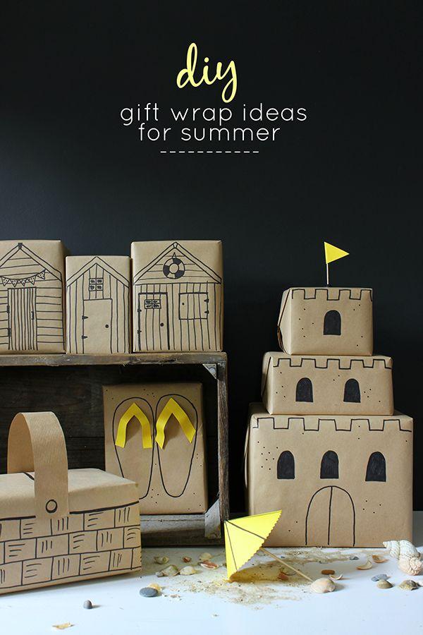 5 easy seaside gift wrap ideas for summer birthdays