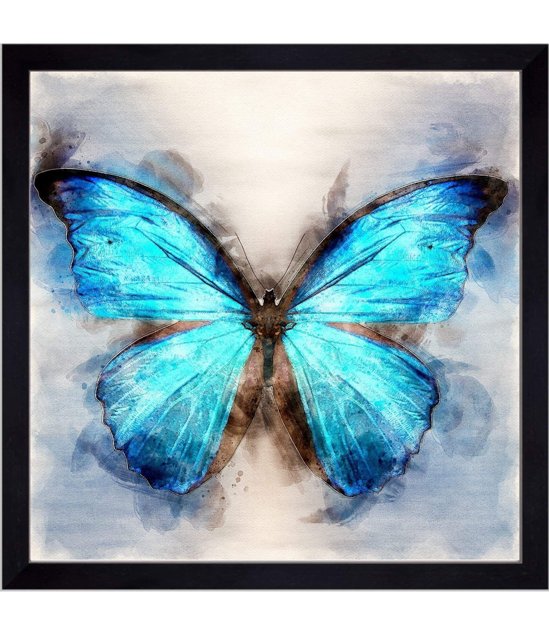 The Bluest Butterfly - 30x30 / Black Frame