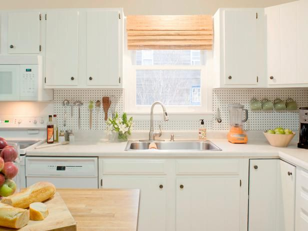 Budget Backsplash Project Pegboard Storage Pegboard Kitchen Diy Kitchen Backsplash Diy Backsplash