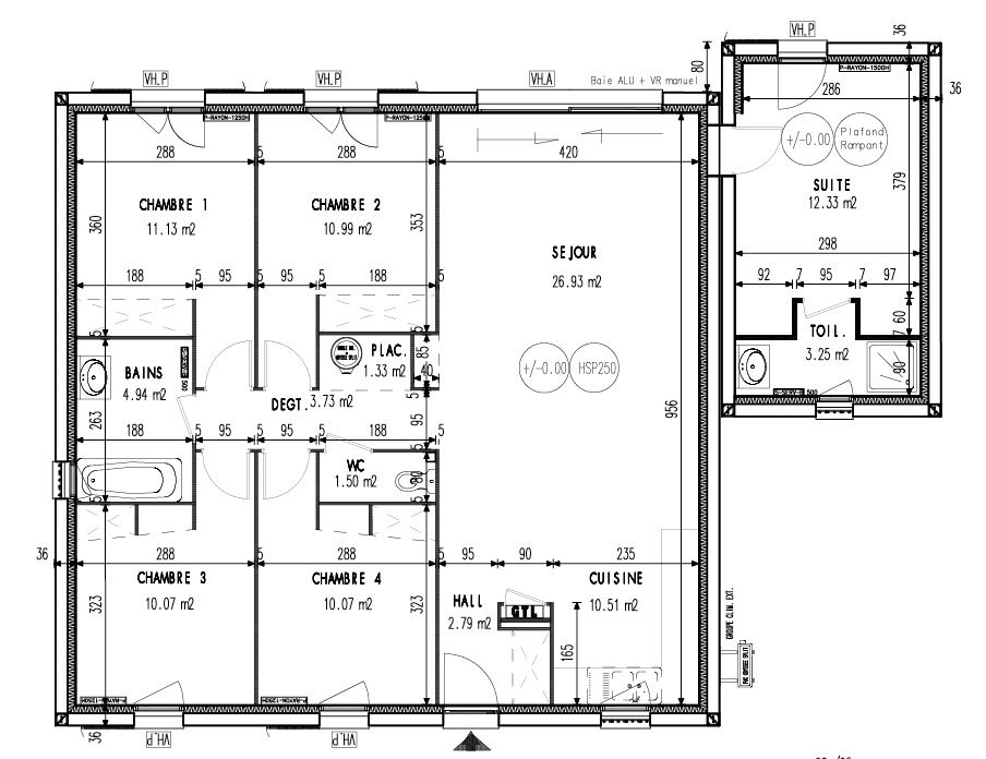 Édition Limitée 93 m2 - Maisons OPEN Maison Pinterest Spaces - plan de maison de 100m2 plein pied