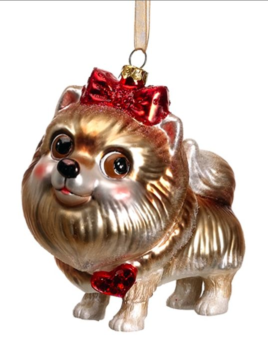 Christmas Ornaments | Blown Glass Dog Christmas Ornaments at Designer Silk  Trees and Home . - Christmas Ornaments Blown Glass Dog Christmas Ornaments At