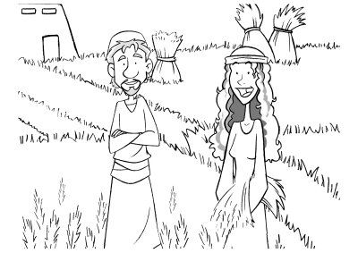 ruth and boaz coloring pages - Google Search | Sunday School 5 - 7 ...