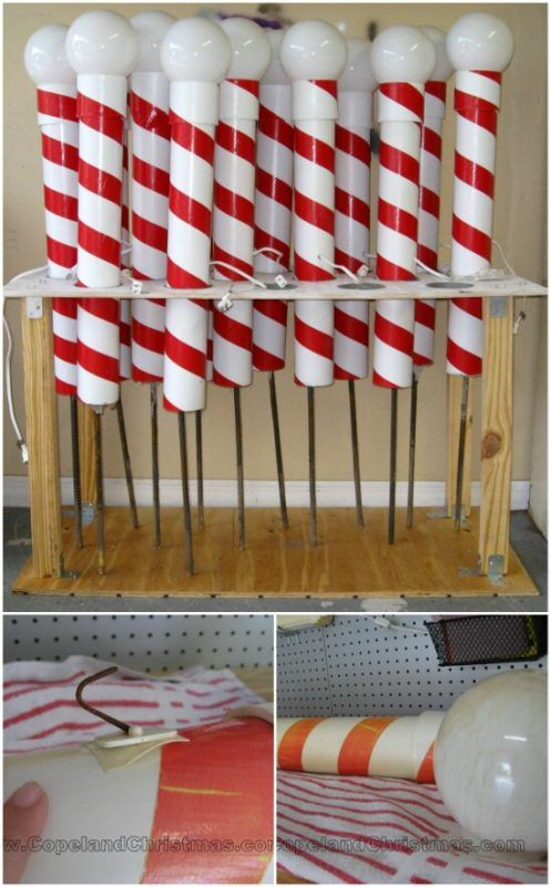 Outdoor Christmas Decorations Candy Canes 20 Impossibly Creative Diy Outdoor Christmas Decorations  Candy