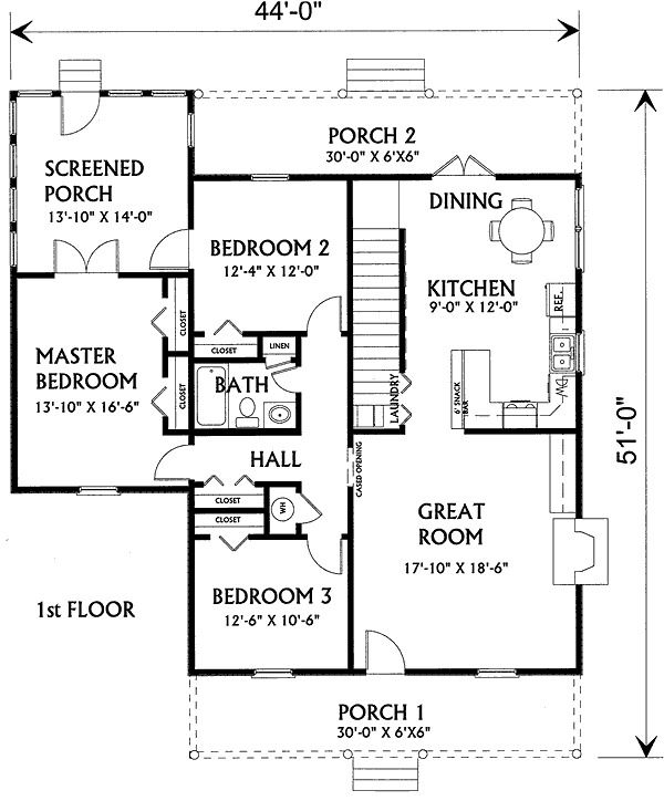 Southern Country Retreat House Plans How To Plan Small