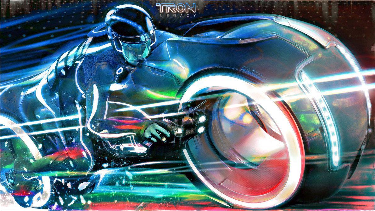 "Tron Legacy Motorcycle Girls poster wall art home decor photo print 24/"" x 24/"""