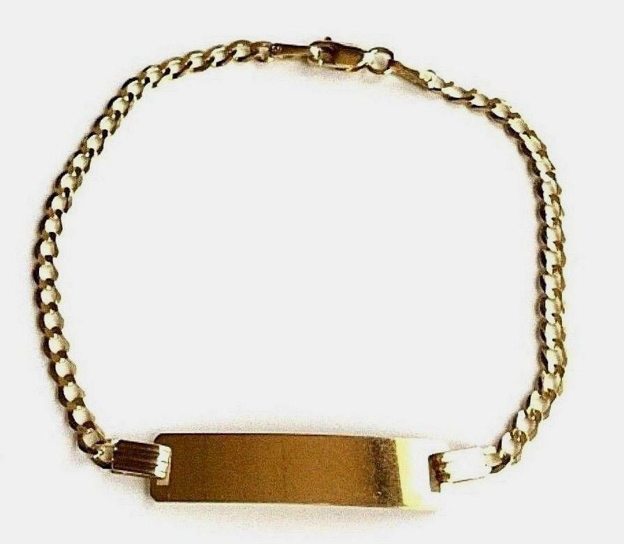 14k Solid Gold Baby I D Bracelet 6 14k Oro Puro Pulsera De Bebe Con Placa 2 5gr Ideas Of Gold Bracelet Goldbracel In 2020 Gold Bracelet 14k Solid Gold Id Bracelets