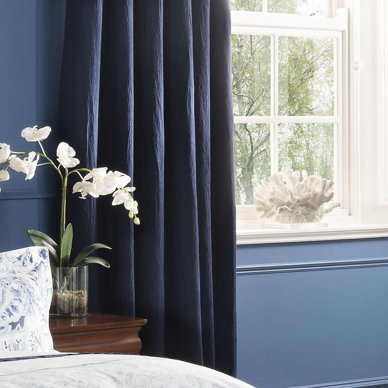 navy blackout curtains color block dorma vermont navy blackout curtains dunelm spare room in 2018