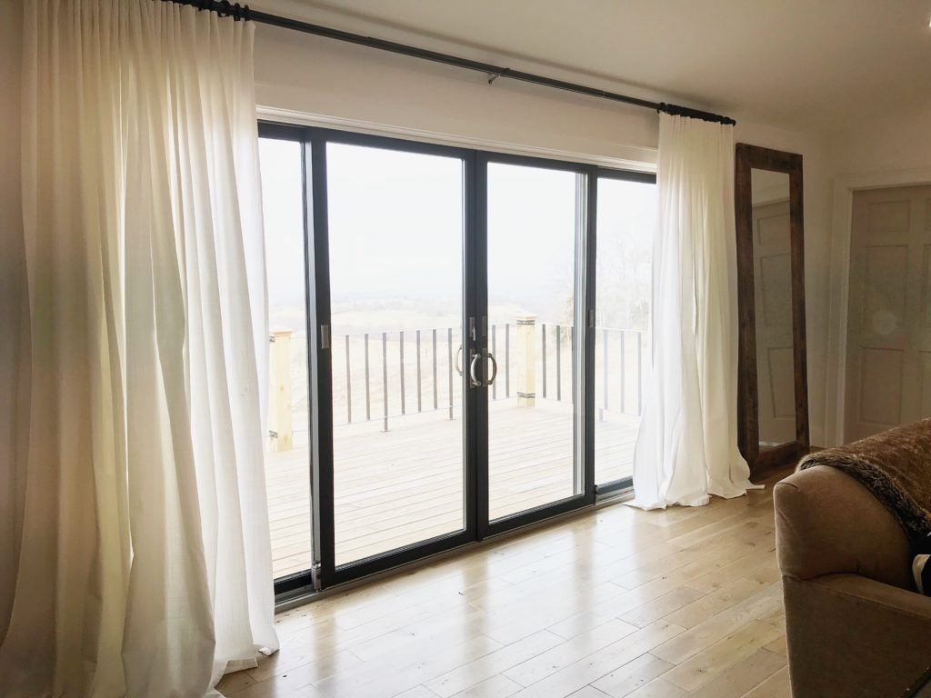 How A Simple Paint Color Change Can Be Huge Painted By Kayla Payne Sliding Doors Interior Sliding Patio Doors Glass Doors Patio