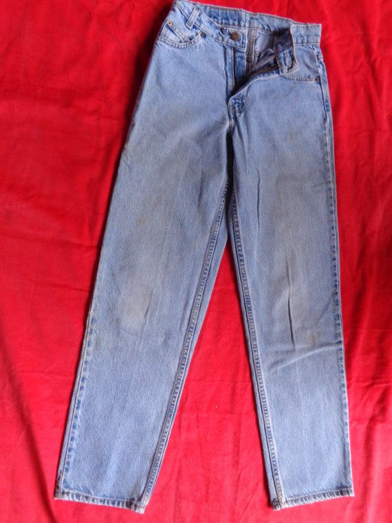Vintage Levis 550's student faded  blue  27x30 by vintagewayoflife