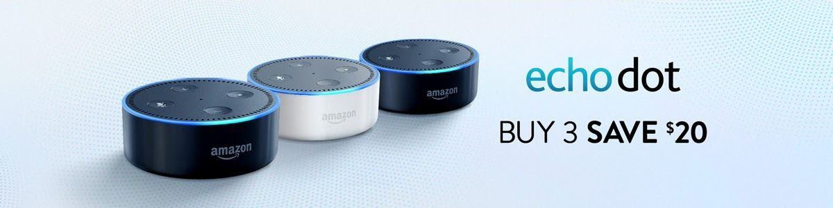 Buy any 3 Echo Dots and get great discount and Now control