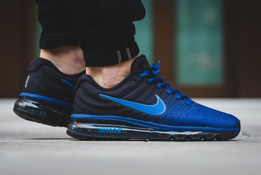 Nike Air Max 2017 Black Deep Royal Blue homme