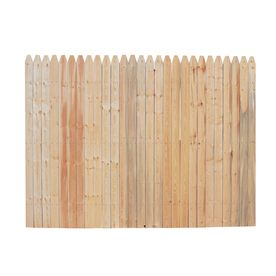 Spruce Stockade Wood Fence Picket Panel Approx Panels For Our Backyard Plus
