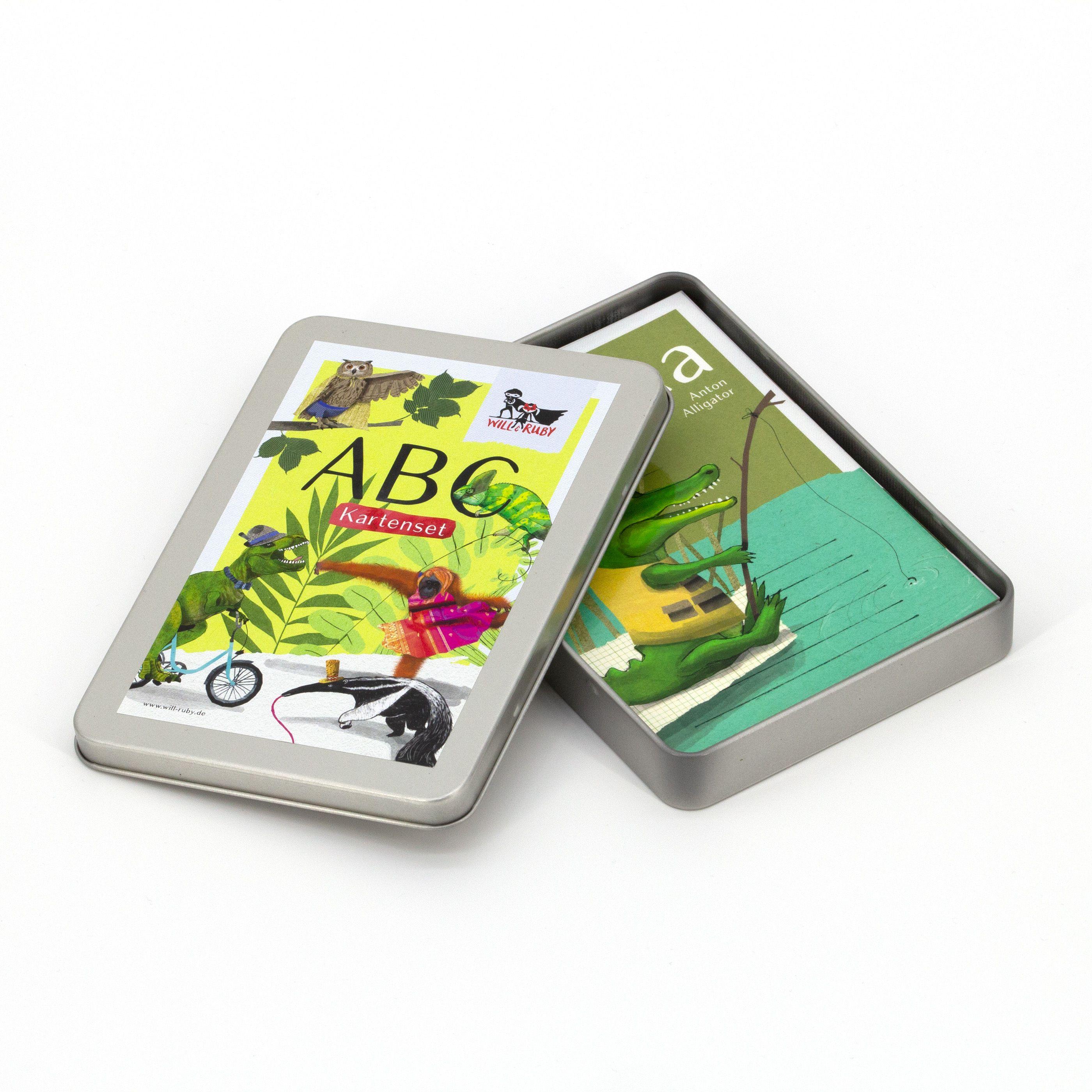 ABC-Kartenset mit Tieren