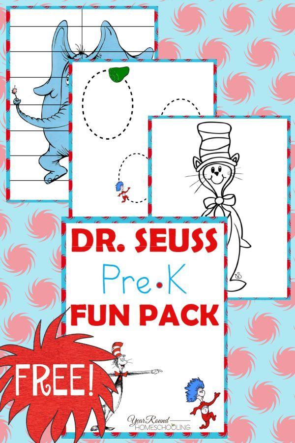 Free Dr. Seuss PreK Fun Pack | Kind