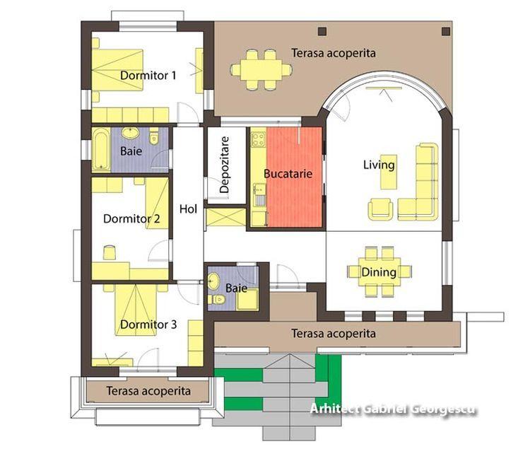 proiecte de case cu arcade arched house plans 3