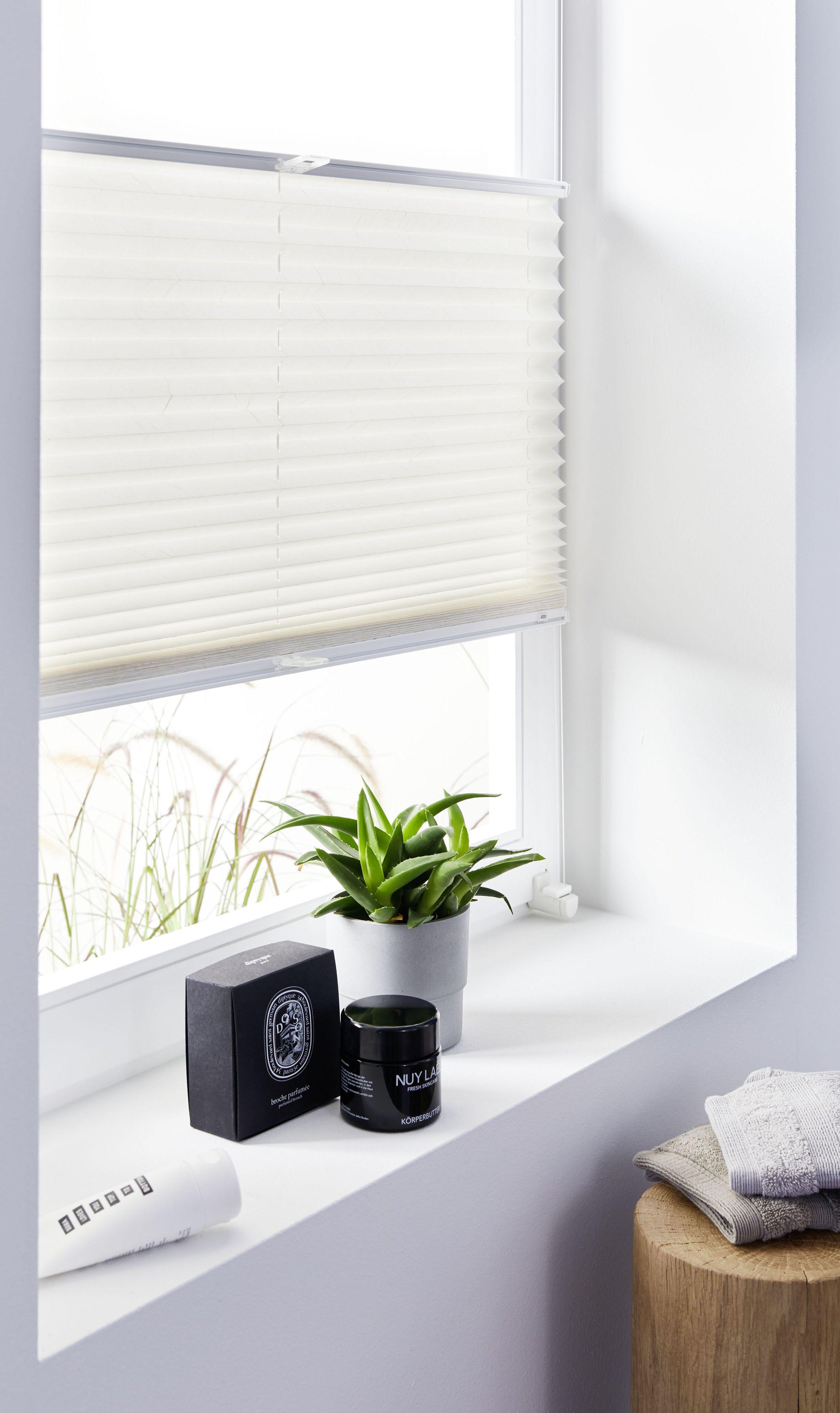 Plissee Weiss Badezimmer Sichtschutz Schoner Wohnen Kollektion In 2020 Fensterdekoration Schoner Wohnen Wohnen