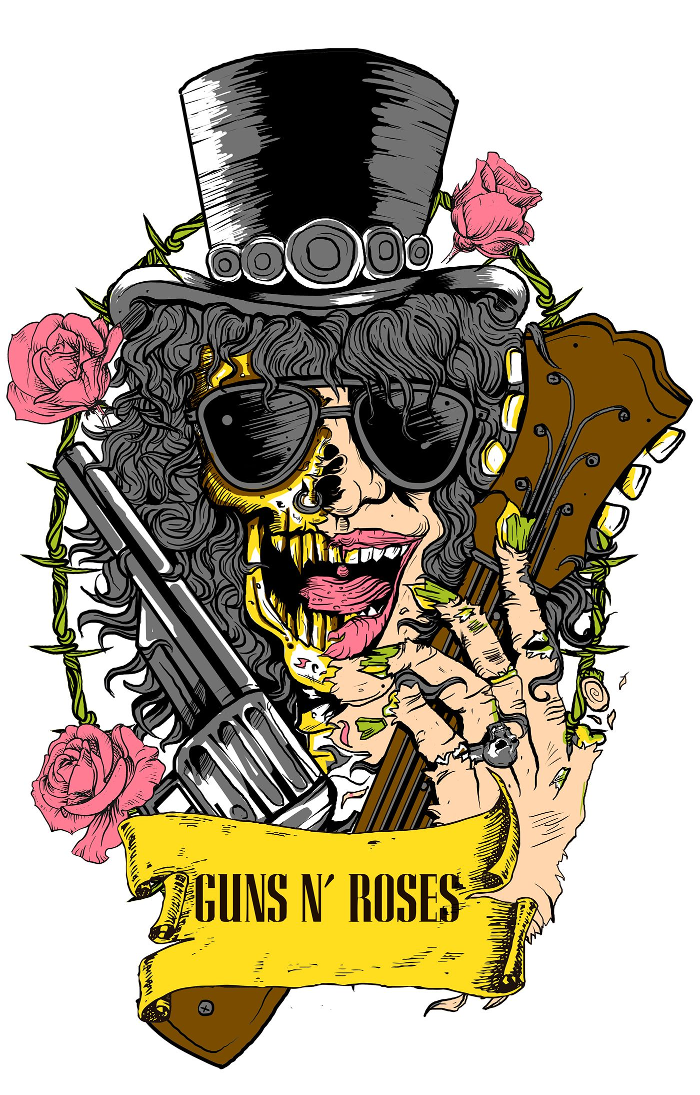 SLASH TShirt on Behance Pôsteres de banda, Boas