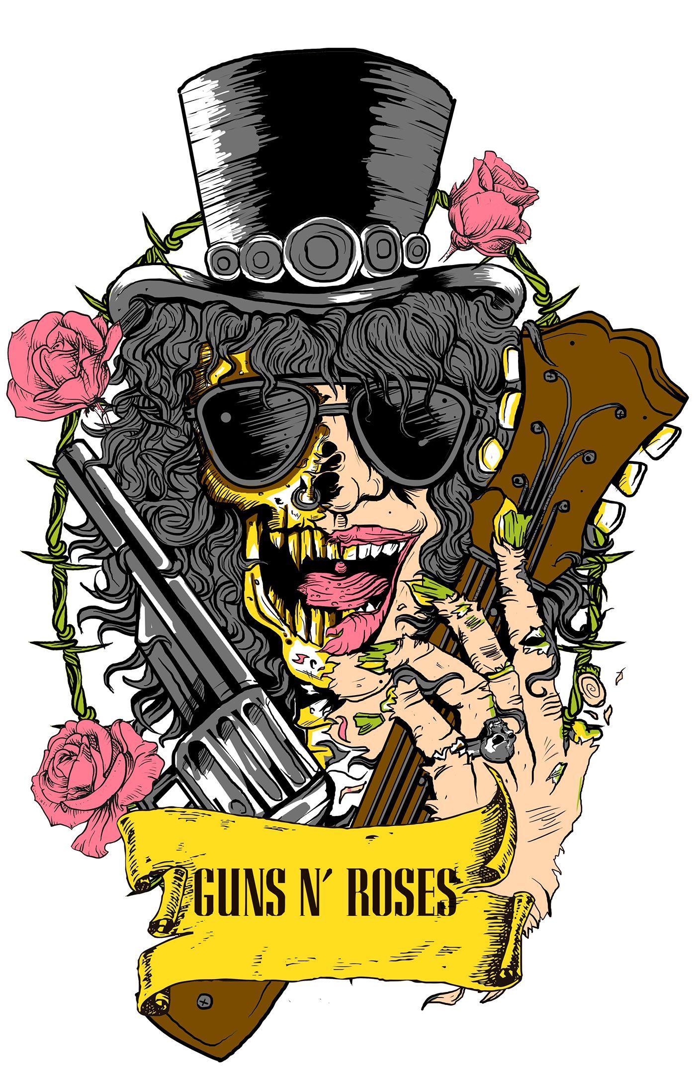 Slash T Shirt On Behance Posteres De Banda Boas Ideias Para