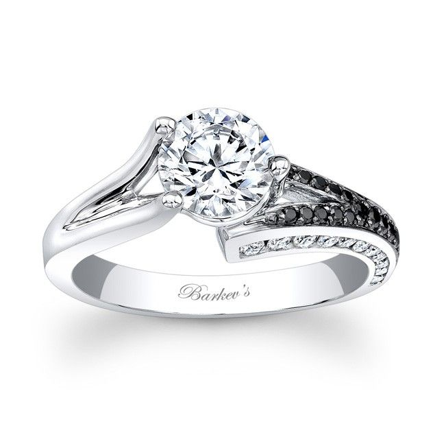 black white diamond engagement ring 7873lbkw unique for the person who doesn - Black And White Diamond Wedding Rings
