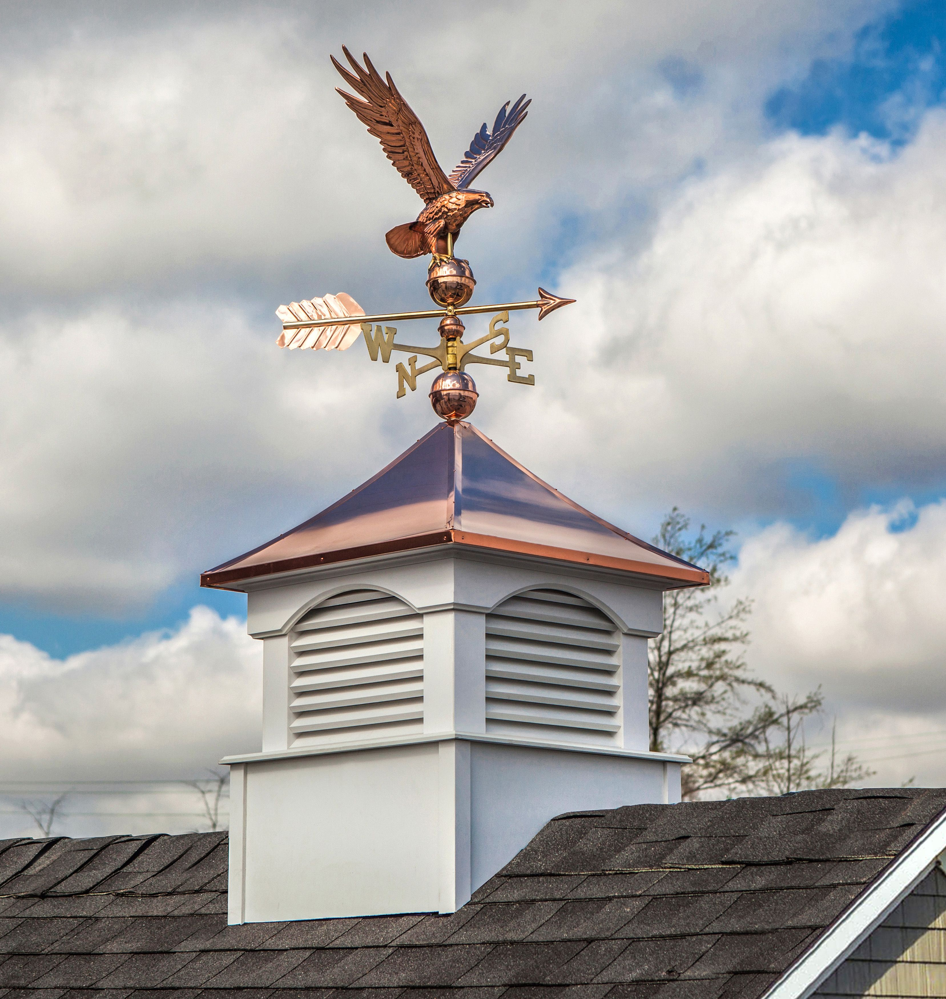 Freedom Eagle Weathervane Copper Roof Weathervanes Stained Glass Butterfly