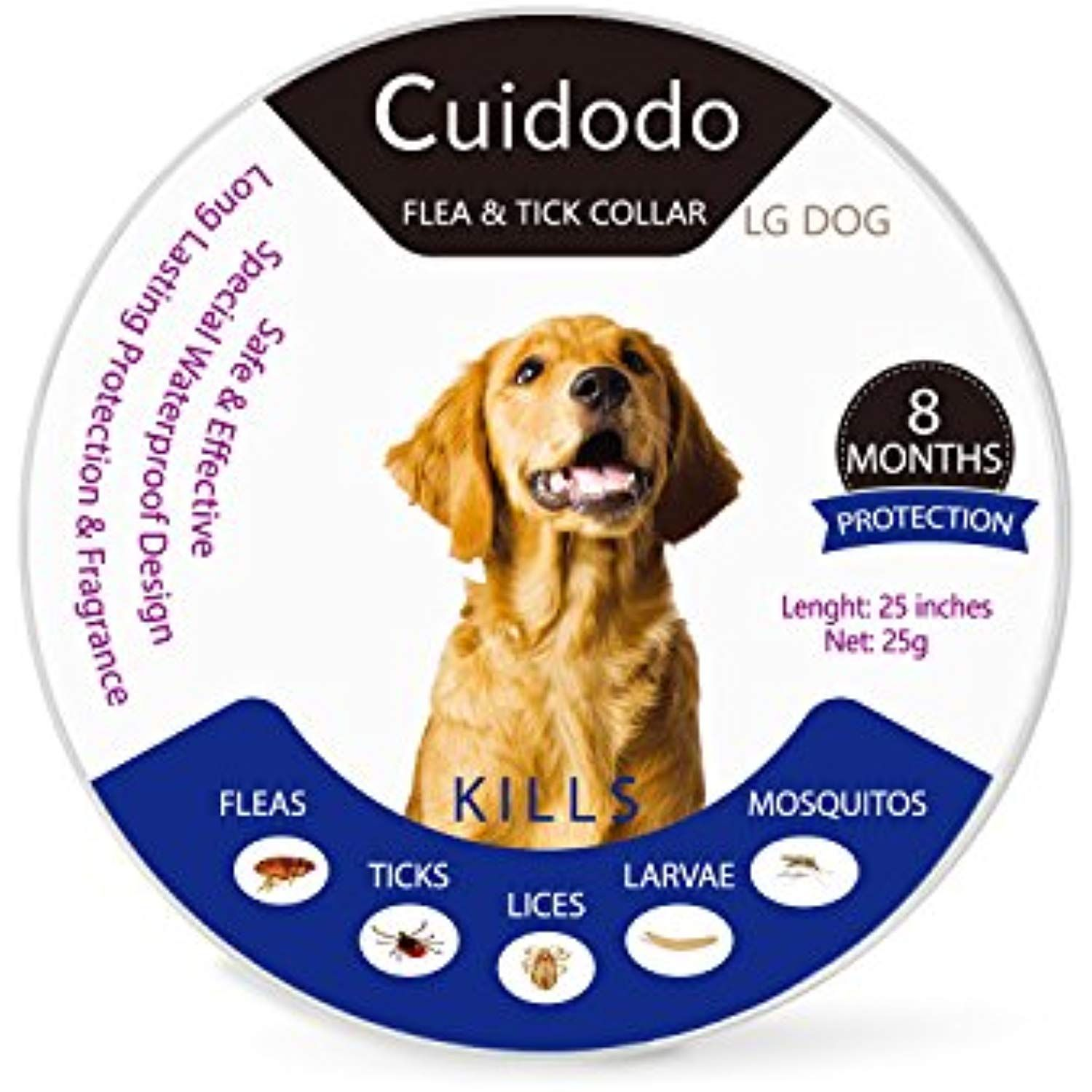 Cuidado Flea And Tick Collar For Dogs And Puppy Waterproof Dog Anti Flea Collar Protection For In 2020 Mosquito Repellent For Dogs Cat Fleas Cat Flea Collar