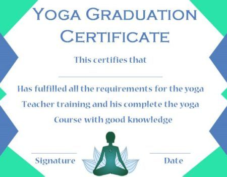 yoga graduation certificate template - Yoga Certificate Template