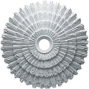 how to install modern ceiling medallions | Sunburst Ceiling Medallion - Ekana Millworks CM24EN/171851 ...