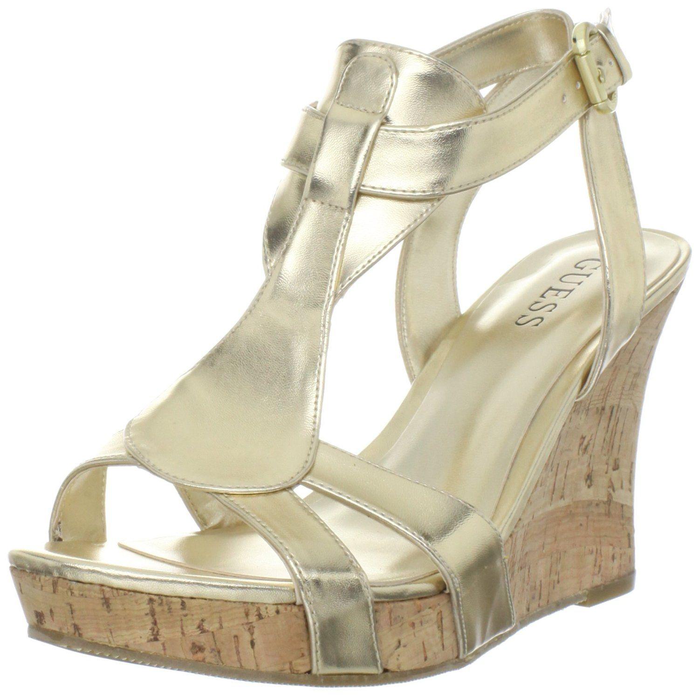 Amazon.com: Guess Women's Priela2 Wedge Sandal: Shoes