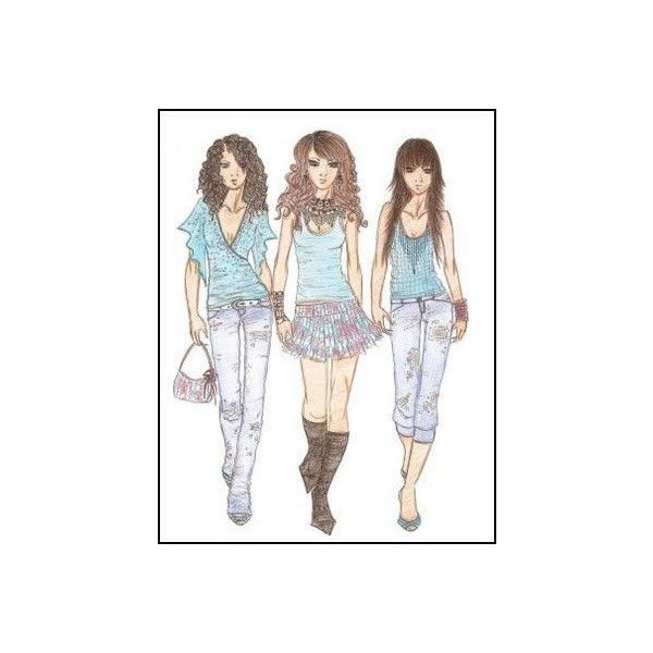 Guide to Fashion Sketches found on Polyvore