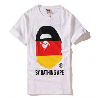 "BAPE A Bathing Ape Mens Multi Camo College Tee T-Shirt Candy /""/""AUTHENTIC/""/"""