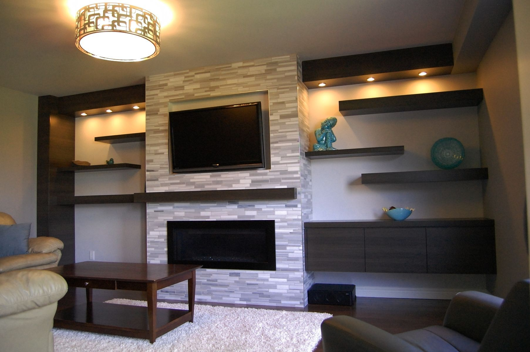 Impression Decorating Ideas For Tv Over Fireplace Diseno De Sala