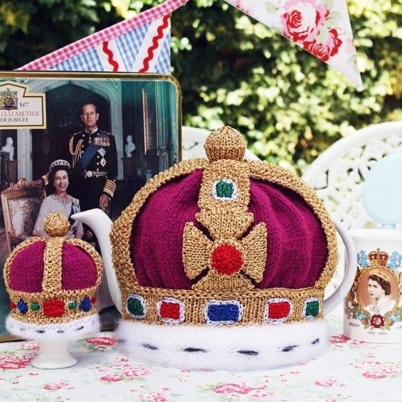 Royal Garden Party Tea Cosy and Egg Cosy Set , pdf email knitting ...