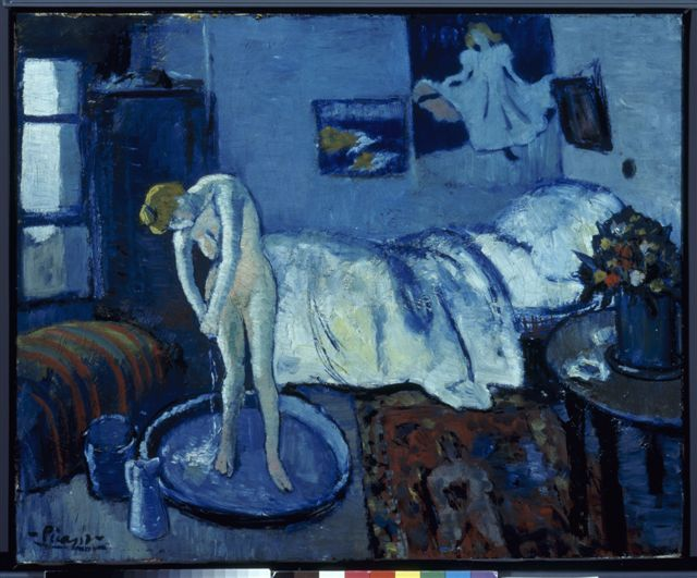 Blue Room - Picasso. This is from Picasso's blue period and is ...