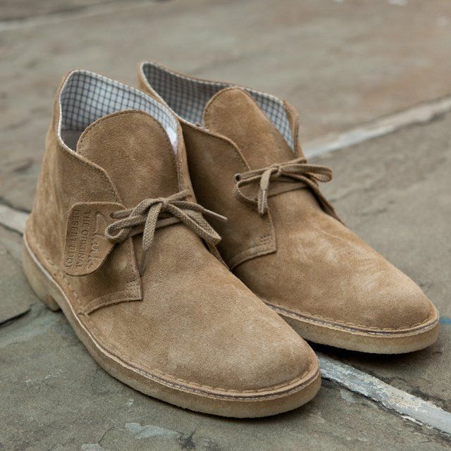 b1cba5de1efc95 No one does classic shoes quite like British brand Clarks. A  traditionalists dream, these new Oakwood Desert Boots by Clarks ($130) also  bring a nice mo.