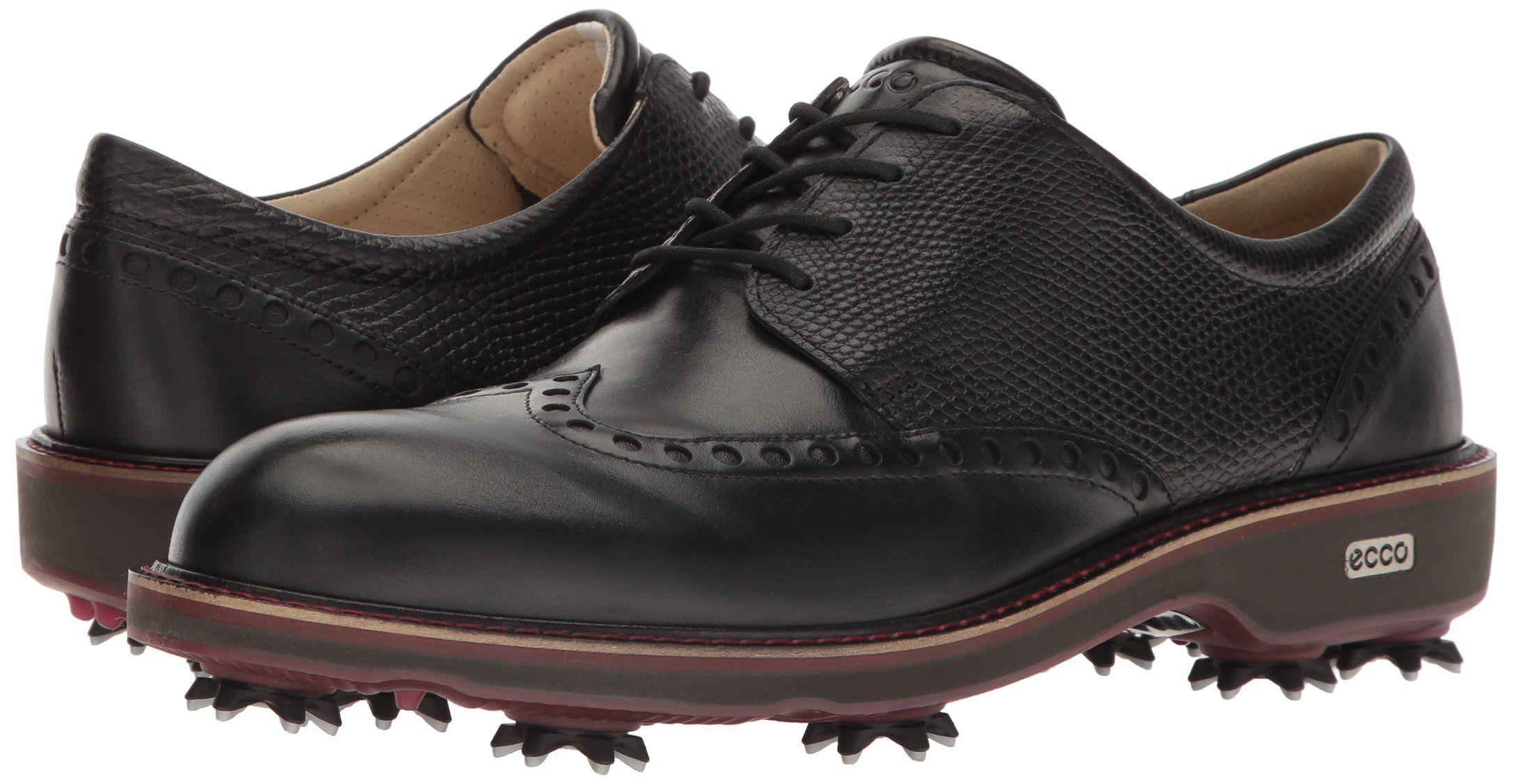Shoes *** ECCO Mens Lux Golf Shoe Black