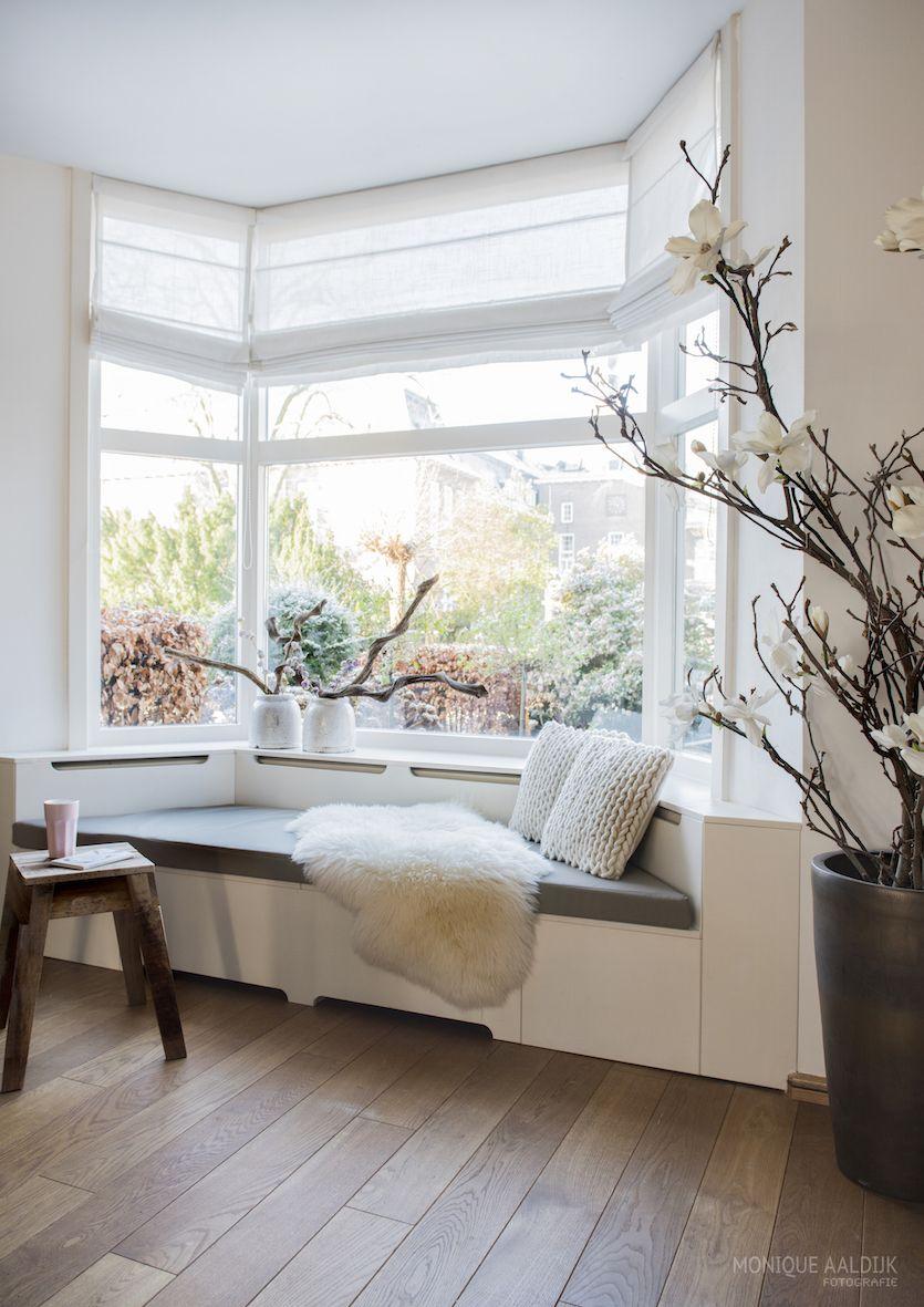 Bay window design exterior  erkerbank op maat met opbergruimte met mijke interior styling u met