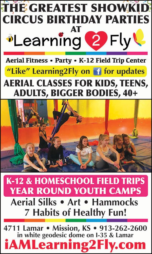 Learning2Fly Is Kansas Citys Aerial Fitness Party Amp K 12 Field Trip