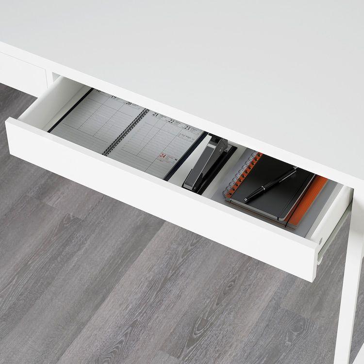 Micke Desk White 55 7 8x19 5 8 Ikea In 2020 Micke Desk White Desks Ikea Micke Desk