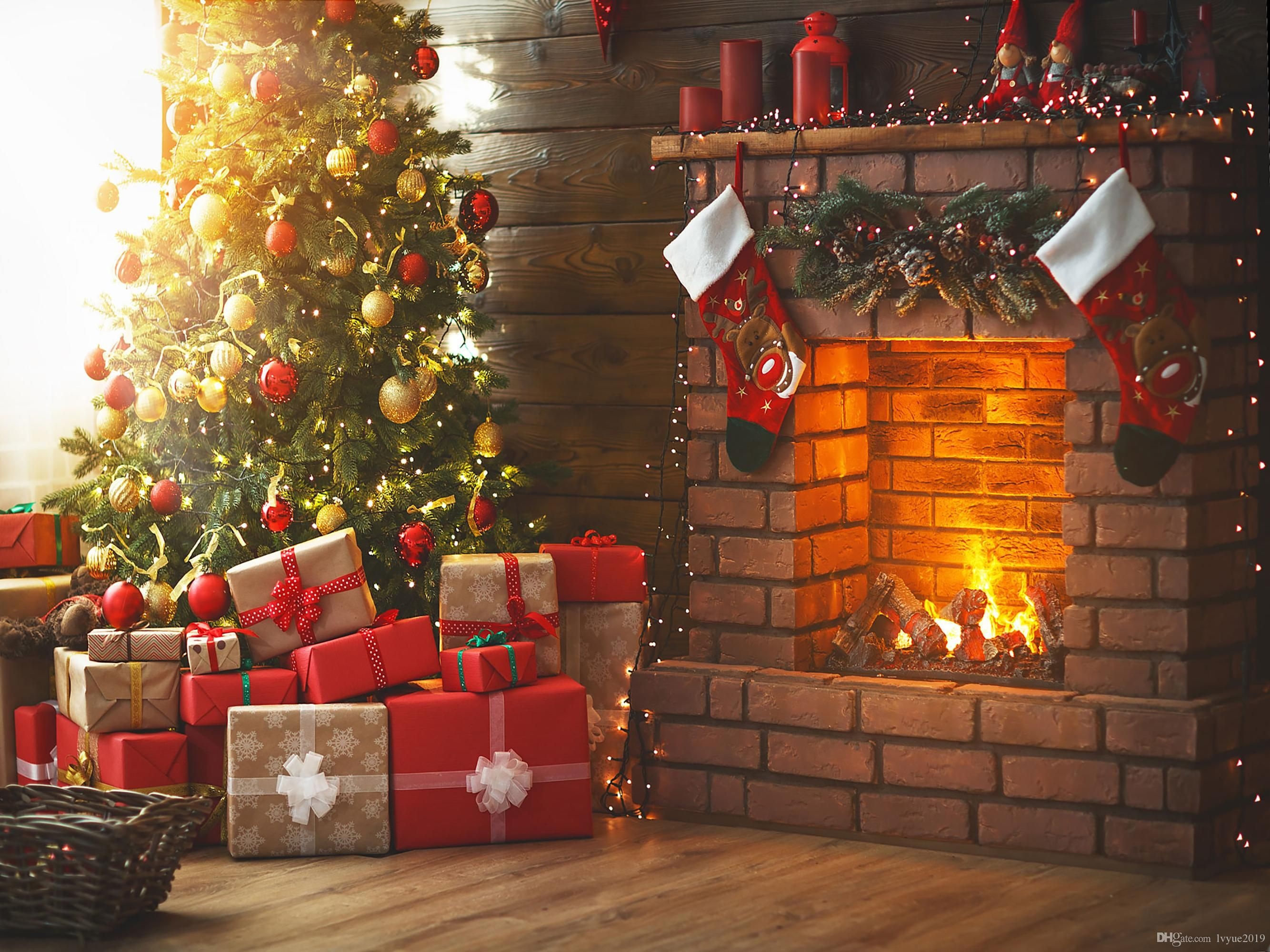 2021 Interior Christmas Tree Fireplace Gifts Vinyl Photography Backdrops Christmas Socks Photo Booth Backgrounds For Family Holidays Studio Pr From Lvyue2019 Christmas Photography Backdrops Christmas Tree And Fireplace Photo Backdrop Christmas Holiday living room background