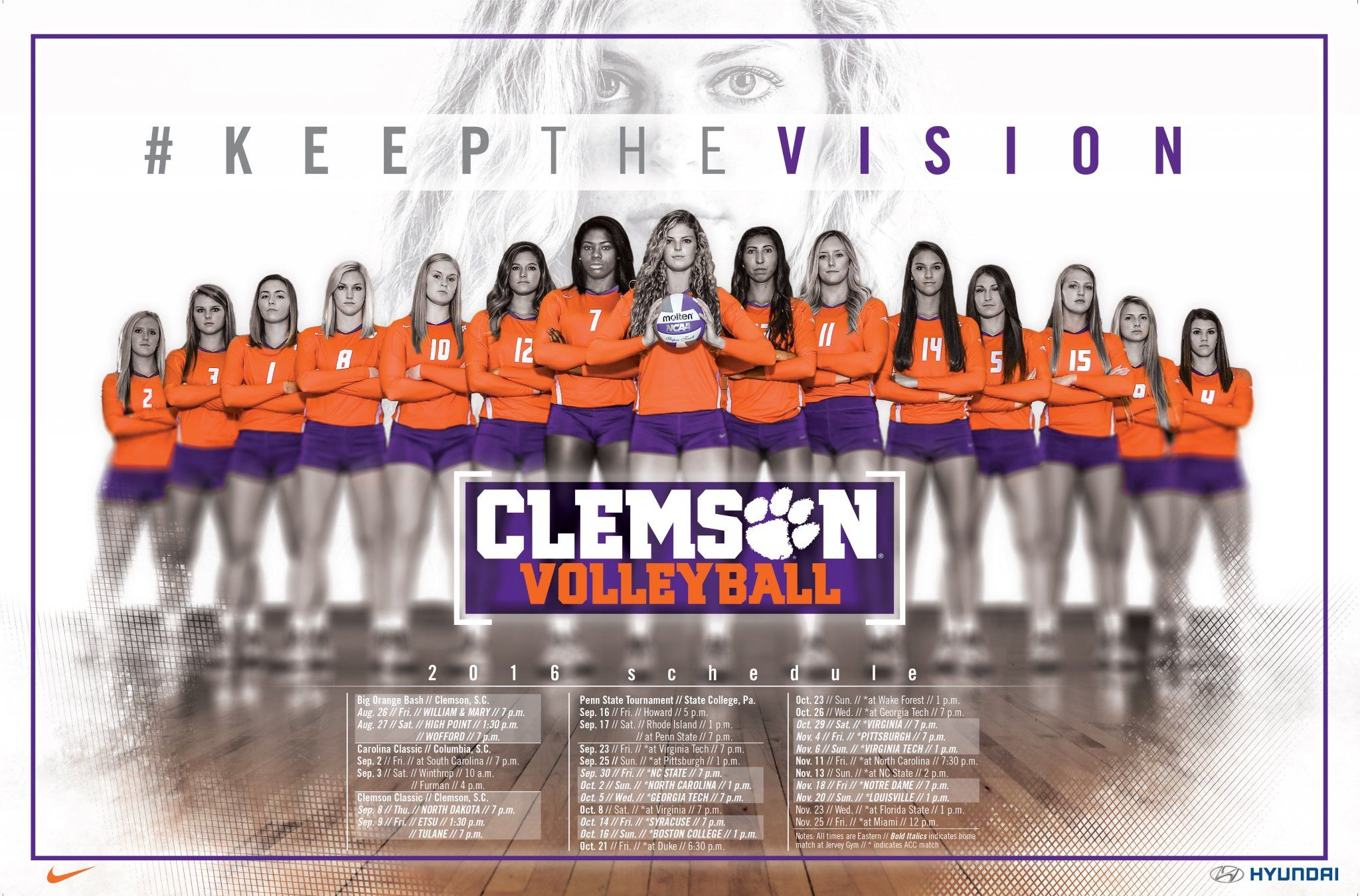 Twitter Volleyball Posters Volleyball Clemson