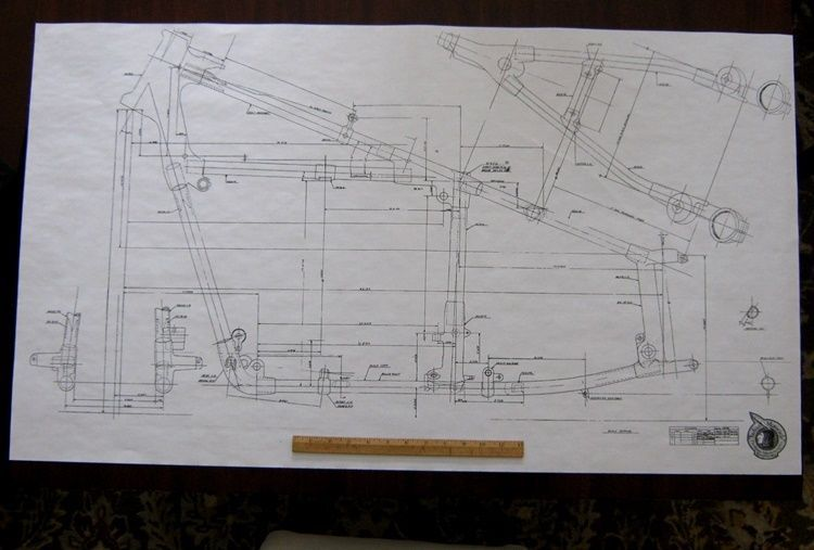 Details About Indian Frame Blueprint Drawing Poster Print
